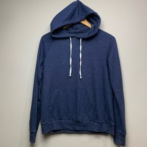 Forever 21 solid blue pullover hoodie